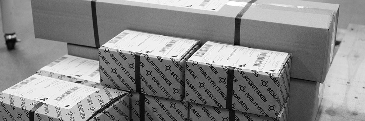 Fertig verpackte Paketen